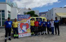 Éxito de participación en los talleres que se celebraron en La Graciosa 'Tus manos pueden salvar vidas' en torno a la Semana Europea del paro cardíaco