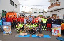 El Consorcio de Seguridad y Emergencias de Lanzarote expone sus recursos junto a otros servicios sanitarios