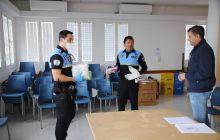 Entrega de mascarillas a la Policía Local de toda la Isla