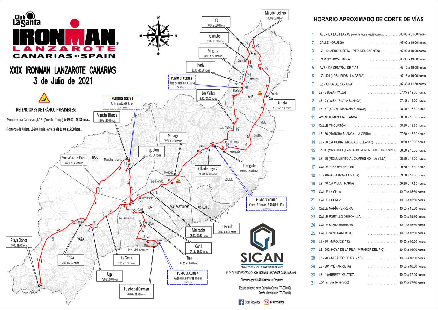 Ironman 2021 Plano general cortes ciclismo